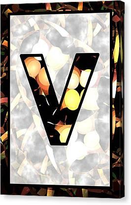 Fractal - Alphabet - V Is For Visual Perception Canvas Print by Anastasiya Malakhova