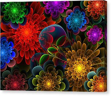 Fractal Bouquet Canvas Print