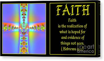 Fractal Faith Hebrews 11 Canvas Print
