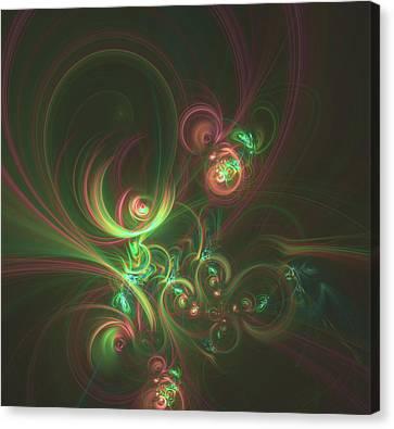 Wildlife Celebration Canvas Print - Fractal In The Form Of Bright Curls by Mariia Kalinichenko