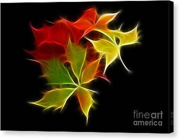Fractal Leaves Canvas Print by Teresa Zieba