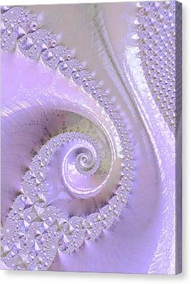 Fractal Of Pearl Canvas Print