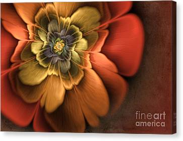 Fractal Pansy Canvas Print by John Edwards