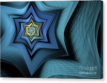 Fractal Star Canvas Print by John Edwards