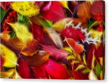 Canvas Print featuring the photograph Fractalius Leaves by Shane Bechler