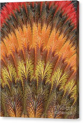 Fractalized Feather Fan Canvas Print