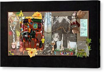 Fractured Fairy Tales Coming Home Canvas Print by Mark Lubich