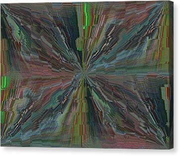 Fractured Frenzy Canvas Print by Tim Allen