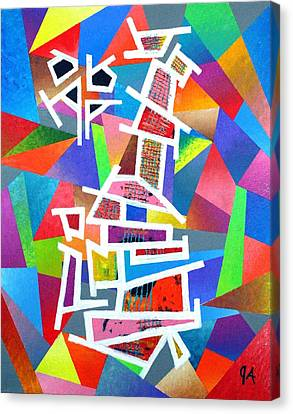 Fractured Instrument Of Love Canvas Print