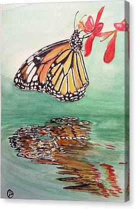 Fragile Reflection Canvas Print by Annie Poitras