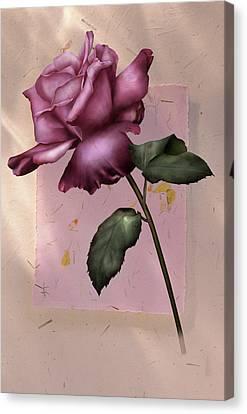 Fragility Of Love Canvas Print