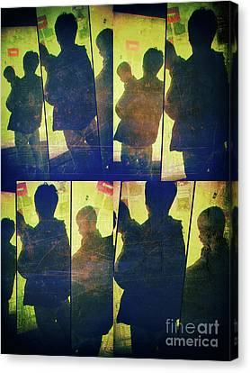 Fragment 4 Father And Child Canvas Print by Jeff Breiman