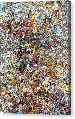 Canvas Print featuring the painting Fragmented Horse by James W Johnson