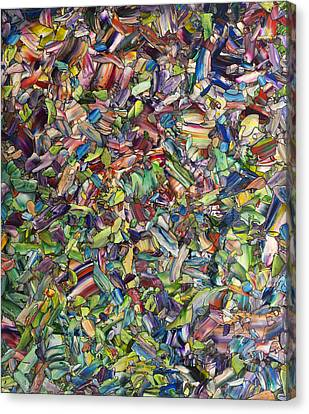 Stained Glass Canvas Print - Fragmented Spring by James W Johnson