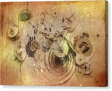 Fragmented Time Canvas Print by Michal Boubin