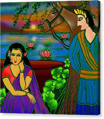 Fragrance Of Magnolias Canvas Print by Latha Gokuldas Panicker