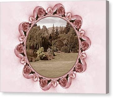 Framed Garden Canvas Print by Nancy Pauling