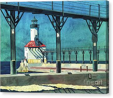 Framed Lighthouse Canvas Print
