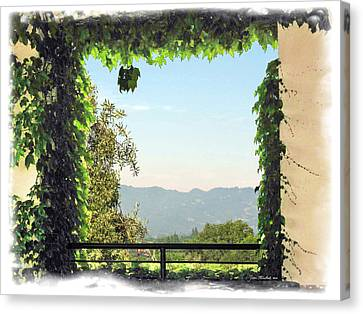 Canvas Print featuring the photograph Framing Napa Valley by Joan  Minchak
