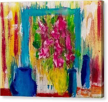 Framing Petals Canvas Print by Eve Schambach
