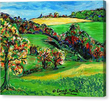 Francais Campagne Canvas Print by Everett Spruill