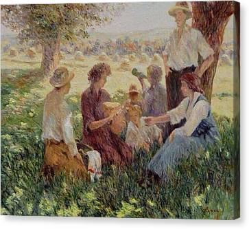 France Country Life  Canvas Print by Pierre Van Dijk