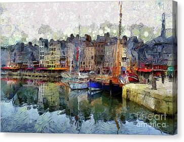 Canvas Print featuring the photograph France Fishing Village by Claire Bull
