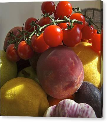 France, Paris Fruits And Vegetables Canvas Print by Keenpress