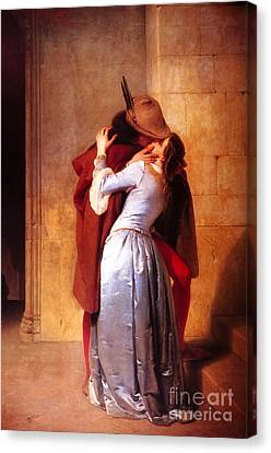 Francesco Hayez Il Bacio Or The Kiss Canvas Print by Pg Reproductions