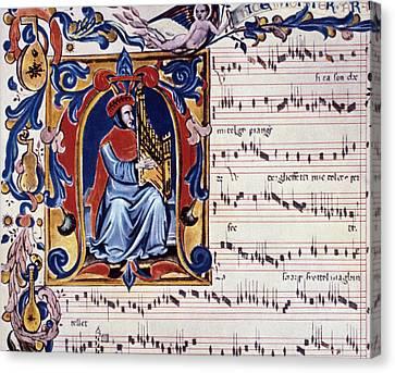 Lute Canvas Print - Francesco Landini by Granger