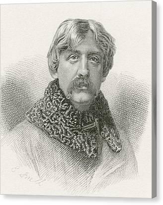 Francis Bret Harte, 1836 -1902 Canvas Print by Vintage Design Pics