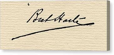 Francis Bret Harte,1839-1902.signature Canvas Print by Vintage Design Pics