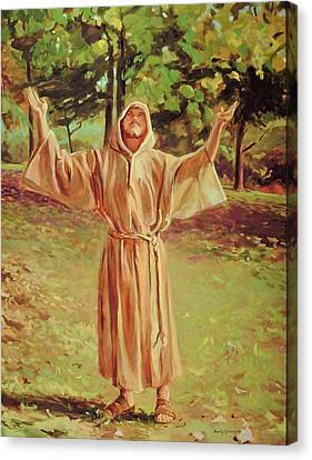 Outstretched Arm Canvas Print - Francis Of Assisi by Beverly Klucher