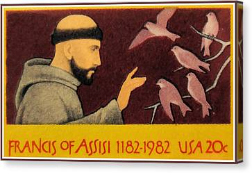 Francis Of Assisi Canvas Print