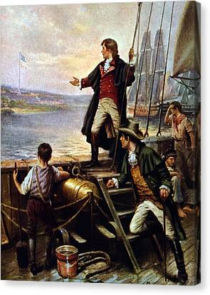 Francis Canvas Print - Francis Scott Key, 1779-1843 Awakes by Everett