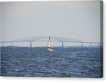 Francis Scott Key Bridge - Baltimore Maryland Canvas Print by Bill Cannon