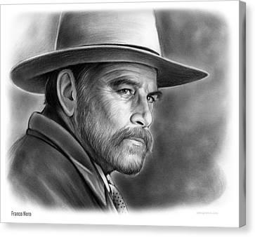 Franco Nero Canvas Print by Greg Joens