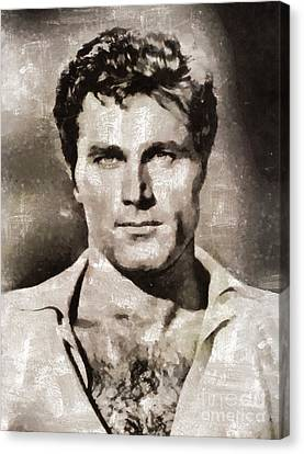 Franco Nero, Vintage Actor Canvas Print by Mary Bassett