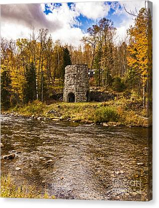 Canvas Print featuring the photograph Franconia Fall by Anthony Baatz