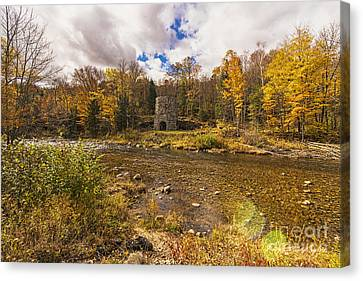 Canvas Print featuring the photograph Franconia Iron Works by Anthony Baatz