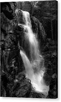 Canvas Print featuring the photograph Franconia Notch Waterfall by Jason Moynihan