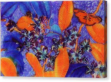 Flowerrs Canvas Print - Frangipani At Night by Stefanie Wilhelm