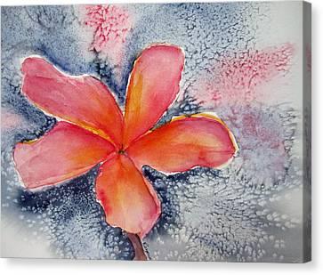 Frangipani Blue Canvas Print