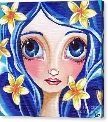 Frangipani Fairy Canvas Print by Jaz Higgins