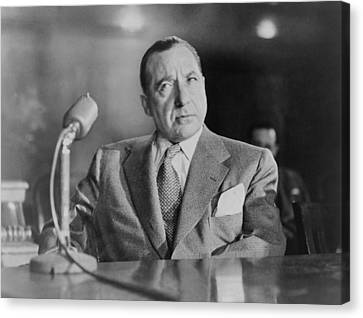 Frank Costello 1891-1973, Testifying Canvas Print by Everett