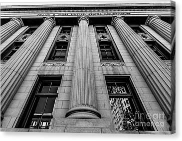 Exchange Place Canvas Print - Frank E. Moss Federal Courthouse - Utah by Gary Whitton
