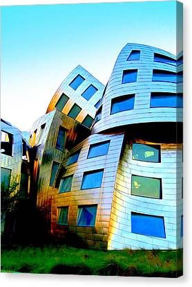 Frank Gehry 3 Canvas Print by Randall Weidner