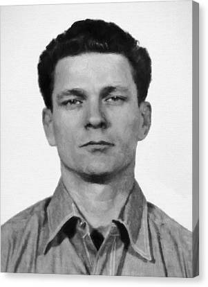 Frank Morris Painterly - Alcatraz Escapee Mastermind Canvas Print