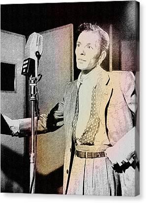 Frank Sinatra 1947 Canvas Print by Ericamaxine Price