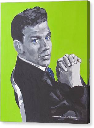 Old Blue Eyes Canvas Print - Frank Sinatra Blue by Eric Dee